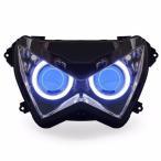 Demoneyes デーモンアイ HID プロジェクター LED ヘッドライトユニット ブルー カワサキ Z800 2013-2016