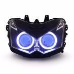 Demoneyes デーモンアイ HID プロジェクター LED ヘッドライトユニット ブルー カワサキ Z1000 2010-2013