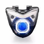 Demoneyes デーモンアイ HID プロジェクター LED ヘッドライトユニット ブルー スズキ GSR250