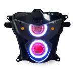 Demoneyes デーモンアイ HID プロジェクター LED ヘッドライトユニット レッド スズキ GSX-R600 2004-2005 ウィンカー付き