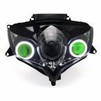 Demoneyes デーモンアイ HID プロジェクター LED ヘッドライトユニット グリーン スズキ GSX-R600 2008-2010