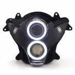Demoneyes デーモンアイ HID プロジェクター LED ヘッドライトユニット ホワイト スズキ GSX-R750 2006-2007