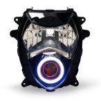 Demoneyes デーモンアイ HID プロジェクター LED ヘッドライトユニット レッド スズキ GSX-R1000 2003-2004