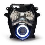 Demoneyes デーモンアイ HID プロジェクター LED ヘッドライトユニット ホワイト スズキ GSX-R1000 2003-2004