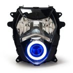 Demoneyes デーモンアイ HID プロジェクター LED ヘッドライトユニット ブルー スズキ GSX-R1000 K3 K4 2003-2004