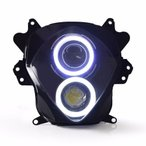 Demoneyes デーモンアイ HID プロジェクター LED ヘッドライトユニット ホワイト スズキ GSX-R1000 2007-2008