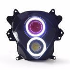Demoneyes デーモンアイ HID プロジェクター LED ヘッドライトユニット レッド スズキ GSXR1000 2007-2008