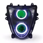 Demoneyes デーモンアイ HID プロジェクター LED ヘッドライトユニット グリーン スズキ GSX1300R ハヤブサ 隼 Hayabusa 2008-2017