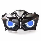 Demoneyes デーモンアイ HID プロジェクター LED ヘッドライトユニット ブルー ヤマハ YZF-R25/YZF-R3 2015-2017