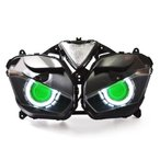 Demoneyes デーモンアイ HID プロジェクター LED ヘッドライトユニット グリーン ヤマハ YZF-R25/YZF-R3 2015-