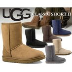 アグ ブーツ レディース UGG ムートンブーツ クラシック ショート UGG WOMEN'S CLASSIC SHORT II 4COLOR ブラック グレー チェスナット 1016223