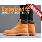ティンバーランド ブーツ TIMBERLAND JUNIOR'S 6INCH BOOT WHEAT wheat/brnレディース ブーツ ティンバー ウォータープルーフ 撥水