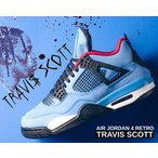 ナイキ エアジョーダン 4 トラビス・スコット NIKE AIR JORDAN 4 RETRO TRAVIS SCOTT CACTUS JACK 308497-406 university blue/black-bleu carolina IV