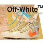 ナイキ ブレザーミッド オフホワイト THE 10 : NIKE BLAZER MID OFF-WHITE canvas/total orange スニーカー THE TEN ブレザー トータルオレンジ