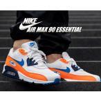 ナイキ エアマックス 90 NIKE AIR MAX 90 ESSENTIAL white/photo blue-total orange aj1285-104 スニーカー メンズ AM90 エッセンシャル トータル オレンジ