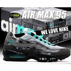 ナイキ エアマックス 95 NIKE AIR MAX 95 PRNT WE LOVE NIKE  black/clear jade-midium ash-dk aq0925-001 スニーカー メンズ