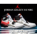 ナイキ エアジョーダン レガシー 312 NIKE AIR JORDAN LEGACY 312 NRG JUST DON white/hot lava-black-zen greyスニーカー AIR TECH CHALLENGE II DON C