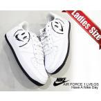 ナイキ エアフォース 1 ガールズ NIKE AIR FORCE 1 LV8 2(GS) Have A Nike Day white/white-black av0742-100 スニーカー ハブ ア ナイキ デイ ホワイト