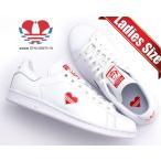 アディダス スタンスミス ウィメンズ adidas STAN SMITH W ftwwht/actred/ftwht g27893 レディース ガールズ スニーカー ホワイト レッド ハート