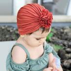 ベビー フラワー ターバン 赤ちゃん用 ヘアアクセサリー コットン 伸縮素材