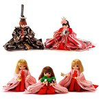 雛人形 リカちゃん 久月 ひな人形 三段飾り 五人飾り シリアル入 h313-ri-268