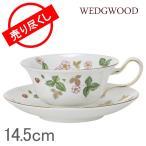 ショッピングウェッジウッド WEDGWOOD ウェッジウッド ピオニー ワイルドストロベリー ティーカップ&ソーサー 200ml
