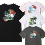 ノースフェイス 半袖Tシャツ THE NORTH FACE NEW AQUA S/S R/TEE 花柄 海外限定 メンズ レディース