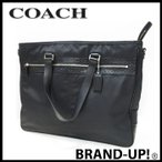 COACH コーチ バッグ ビジネスバッグ シグネチャー ギャラリー ビジネストート F70289 黒 メンズ【中古(美品)】