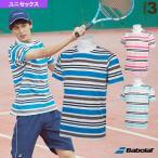 バボラ テニス・バドミントンウェア(メンズ/ユニ)  ショートスリーブシャツ/カラープレイライン/ユニセックス(BTUNJA08)