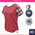 [セントクリストファー テニス・バドミントンウェア(レディース)]ブロックスリーブTシャツ/レディース(STC-AGW2033)