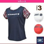 [セントクリストファー テニス・バドミントンウェア(レディース)]チェックスリーブプラクティスTシャツ/レディース(STC-AGW2035)