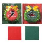 クリスマス 景品 クリスマスリースタオル 100個以上販売 クリスマス プレゼント X'mas ノベルティグッズ