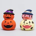 お絵かき かぼちゃ ハロウィンパンプキン 2段 KT-1 陶器 1個販売  手作り ハロウィン パンプキン らくがき貯金箱