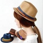 カラプル UVハット/中折れハット/シンプル/麦わら 帽子/UV対策/日よけレディース帽/紫外線UV カット/UVハット/春/夏/宅配便