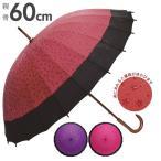 和傘 赤 24本骨 60cm サントス santos レディース おしゃれ 長傘 和 かわいい 軽量 手開き 撥水 傘 傘 桜 かさ カサ 女性用 J
