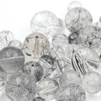 ショッピング天然石 【石の日SALE】天然石パワーストーン 大珠入り トルマリネーテッドクォーツ ビーズ福袋 たっぷり50g入り
