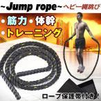 ヘビー縄跳び ジャンプロープ 運動 ダイエット 筋トレ トレーニング 保護帯付き 2.4kg 3m 二の腕 太もも ふくらはぎ 体幹 握力 de044