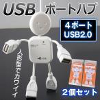 USB ハブ 4口 4ポート USB2.0対応 人形 カワイイ 多岐 ケーブル USBコンセント  mb084