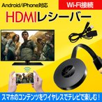 HDMIレシーバー 丸型 Wi-Fi ワイヤレス ドングル スマホ iPhone アンドロイド android PC パソコン テレビ mb087