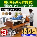 電動ベッド 介護ベッド 電動 リクライニング 電動3モーターベッド ケア3(サイドテーブル付き)-ART