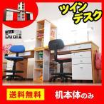ショッピング学習机 学習机 勉強机 ツインデスク 学習デスク デュアル2 (TDVG-120)-ART (机のみ)