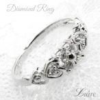 Yahoo!ジュエリーluire-Yahoo!店リング レディース ハートリング プラチ900 フラワー  ダイヤモンドリング  結婚指輪  誕生日 プレゼント彼女 自分ご褒美