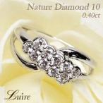 Yahoo!ジュエリーluire-Yahoo!店リング ダイヤモンド10 ダイヤモンドリング K18ゴールド 天然ダイヤ フラワー 花 指輪