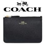 【送料無料】F57854 IMBLK コーチ COACH 財布 コインケース ブラック クロスグレーン レザー キーリング アウトレット レディース