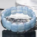 【一点物】 アクアマリン バングル Bracelet ブレスレット Bangle 腕輪 ブレス バングル 数珠 Aquamarine ミルキーアクア メンズ レディース パワーストーン