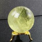 シトリン 丸玉 原石 citrine 黄水晶 Gemstone 天然石【42mm】