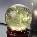 シトリン 丸玉 原石 citrine 黄水晶 Ball パワーストーン【48mm】