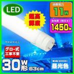 ショッピングLED LED蛍光灯 30w形 63cm 昼光色 直管LED照明ライト グロー式工事不要G13 t8 30W型