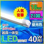 LED蛍光灯 器具一体型 40w形 120cm 昼光色 led蛍光管 120cm  100V/200V対応 LED照明器具 LEDベースライト