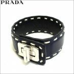 プラダ PRADA ブレスレット レザー 本革 レディース メンズ ネイビー 紺色 アクセサリー バングル 腕輪 BALTICO ブランド アウトレット 1aj092-cica-baltico